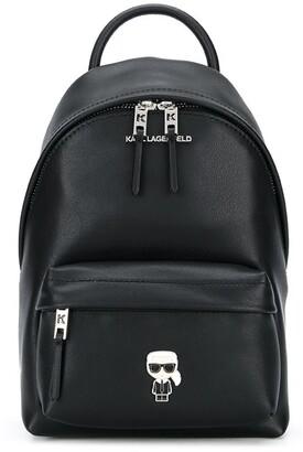 Karl Lagerfeld Paris K/Ikonik metal pin backpack