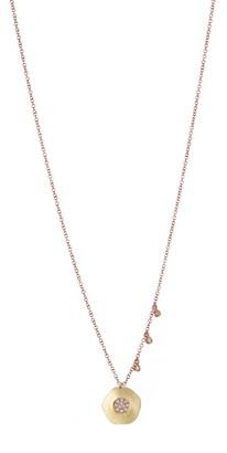 Meira T Two-Tone 14K Gold Pave Diamond Pendant Necklace