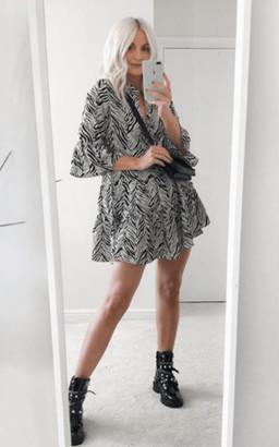 Ikrush Sam Printed Smock Dress