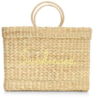 Poolside Large Lizzy Woven Sunkissed Beach Tote