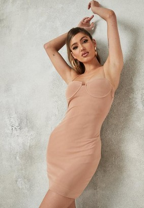 Missguided Blush Mesh Low Back Mini Dress