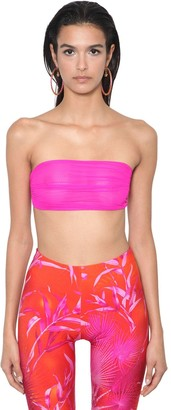 Versace Stretch Tulle Jersey Bra Top