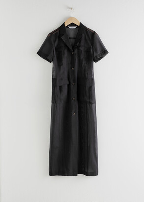 And other stories Sheer Patch Pocket Maxi Dress