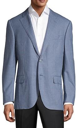 Corneliani Regular-Fit Plaid Wool Jacket