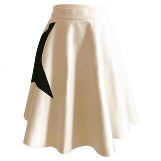 MSGM Beige Wool Skirt for Women