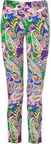 Ralph Lauren Blue Label Port Royal Paisley Print Stretch Sateen Pants