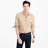 J.Crew Wallace & Barnes Makin Island garment-dyed chino shirt