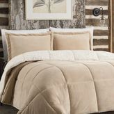 Bed Bath & Beyond So-SoftTM Plush Reversible Twin Comforter Set in Tan