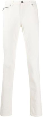 John Varvatos Branded-Patch Skinny Jeans