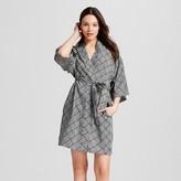 Gilligan & O Women's Pajama TENCEL® Robe Black Tile Print Gilligan & O'Malley