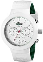 Lacoste Men's 2010653 Borneo Green and White Stainless Steel Watch with Silicone Band