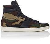 Saint Laurent Men's SL/10H Twill High-Top Sneakers-DARK GREEN