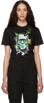 Prada Black Crystal Thunderbolt Frankenstein T-Shirt