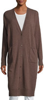 Lafayette 148 New York Wool Relaxed Duster Sweater, Maple