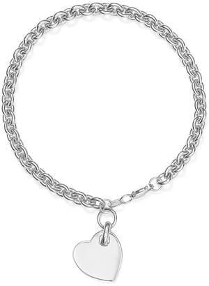 Bloomingdale's Heart Tag Bracelet in Sterling Silver - 100% Exclusive