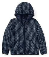 Ralph Lauren Polka-Dot Quilted Jacket Navy/White Xl