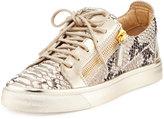 Giuseppe Zanotti Embossed Snake-Print Sneakers, Scarpa Ber