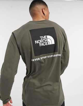 The North Face Red Box long sleeve t-shirt in green