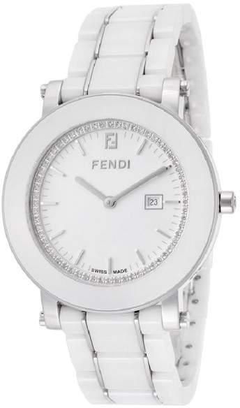 Fendi F642140D White Ceramic Diamond 38mm Womens Watch