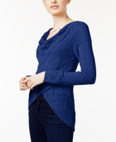 INC International Concepts Petite Cowl-Neck Crossover Sweater, Created for Macy's
