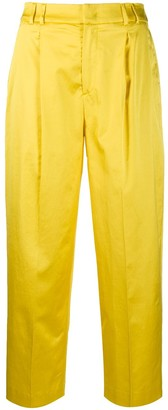 Pt01 cropped high-waisted trousers