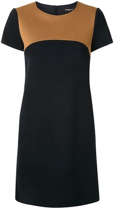 Paule Ka Colour-Block Mini Dress
