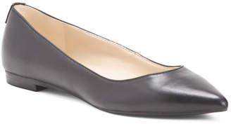 Leather Pointy Toe Flats
