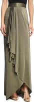 Haute Hippie The Daylight Draped Metallic Maxi Skirt, Gold