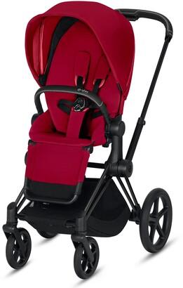 CYBEX e-Priam Matte Black Electronic Stroller with All Terrain Wheels