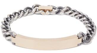 hum Brushed Gold And Sterling-silver Bracelet - Silver Gold