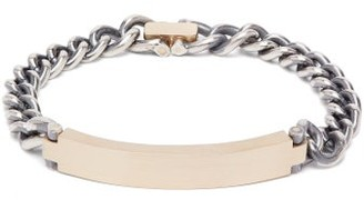 hum Brushed Gold And Sterling-silver Bracelet - Womens - Silver Gold