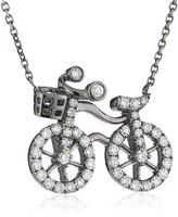 Bao Bao Wan 18ct White Gold Round White Diamond Little Bicycle Necklace 40 Cm