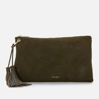 Ted Baker Women's Deseree Double Tassel Clutch Bag - Khaki