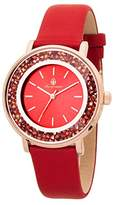 Burgmeister St. Lucia Women's Quartz Watch with Red Dial Analogue Display and Red Leather Strap BM537-344