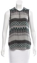 L'Agence Sleeveless Abstract Print Top