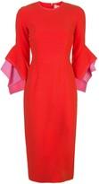 Roksanda structured-sleeve midi dress