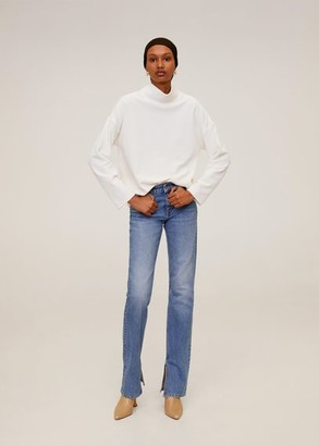 MANGO Ribbed velvet sweatshirt