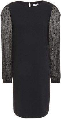 Claudie Pierlot Point D'esprit-paneled Crepe Mini Dress