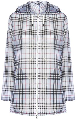 Burberry Check Print Raincoat