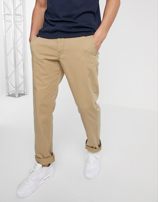 Polo Ralph Lauren flat front straight leg chinos in tan