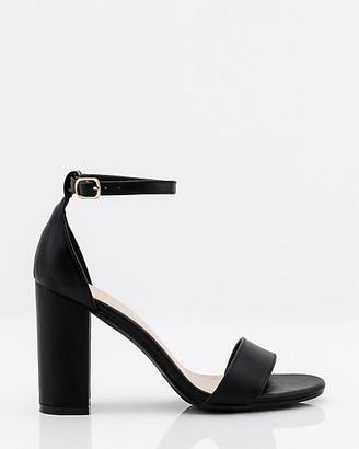 Le Château Block Heel Ankle Strap Sandal