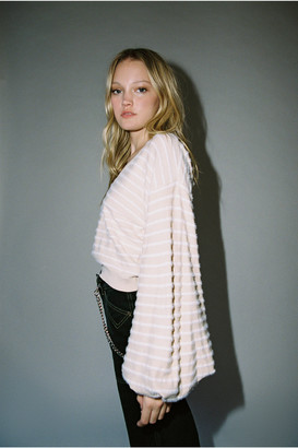 Finders Keepers Striped Knit Balloon Sleeve Sweater