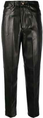 Philosophy di Lorenzo Serafini Faux-Leather Cropped Trousers