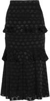 Cushnie et Ochs Polka-dot fil coupé skirt
