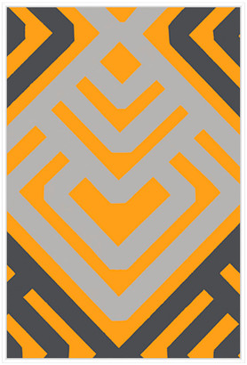 Jonathan Bass Studio Monochrome Patterns 6 In Yellow, Decorative Framed