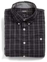 Todd Snyder Gable Shirt in Black Heather Pinpoint
