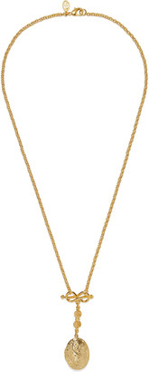 Ben-Amun 24-karat Gold-plated Locket Necklace
