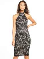 AX Paris Lace Halterneck Bodycon Dress