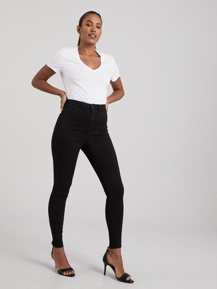 Very Addison High Waisted Super Skinny - Black