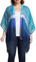 Arizona Square Chiffon Kimono- Juniors Plus